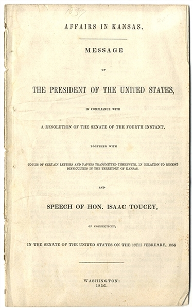 """Bleeding Kansas"" Report From President Pierce"
