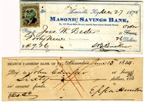Checks Signed by General Buckner and General Hunton