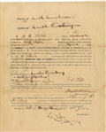 War-date Document Signed by Captain Childs and Week Before Fort Sumter