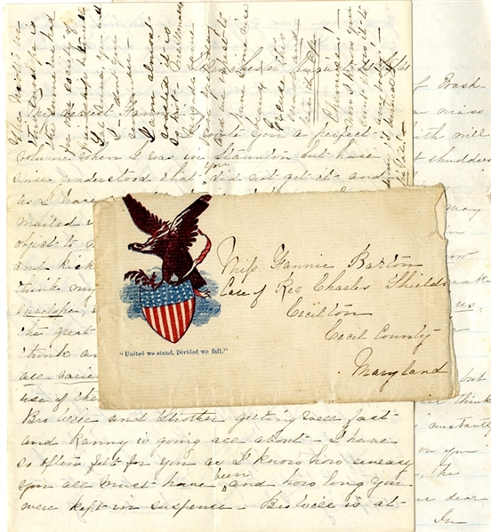 Confederate Civilian Sends a Letter on Captured Yankee Cover Mentioning Casualties from the 2nd Virginia Infantry