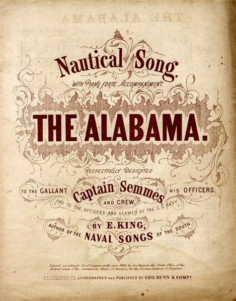 The Alabama  Printed in Richmond, Virginia, 1864