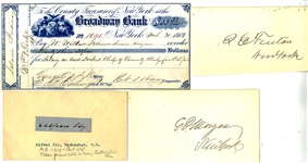 Group of FOUR New York Civil War Politician Autographs
