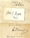 Group of THREE Civil War Politician Autographs