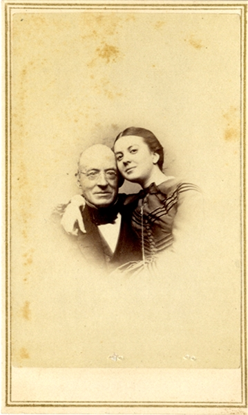 Boston Photographer of William Lloyd Garrison and His Daugter