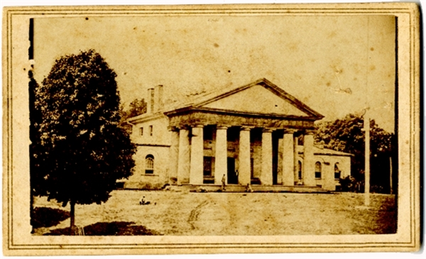CDV of Robert E. Lee's Mansion During the Civil War