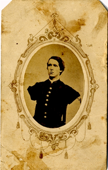 CDV of Alfred Stratton who Lost Both Arms at Petersburg