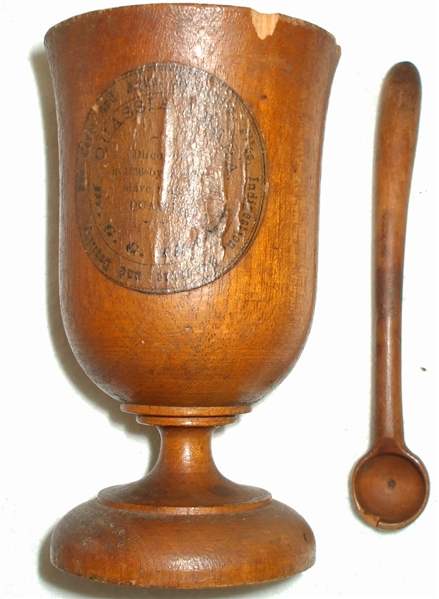 Quassia Cup with Label