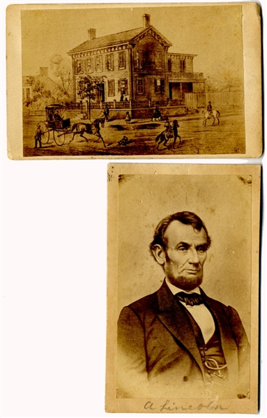 Two Lincoln Related CDVs