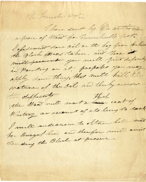 Letter to Abraham Lincoln