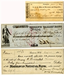 Two Checks Signed by Secretaries of the U.S. Treasury