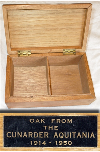 Box from the Oak of the Cunarder Aquitania