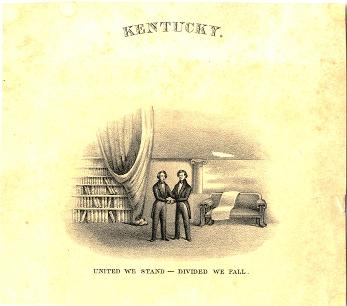 Extremely Rare and Early Kentucky State Motto design