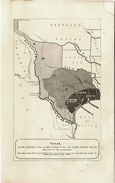 Texas Map At Time of Annexation