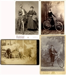 Group of four (4) Bicycle Cabinet Cards