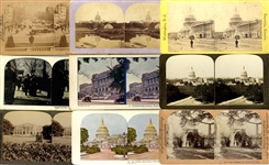Group of nine (9) Washington D.C. Stereoviews