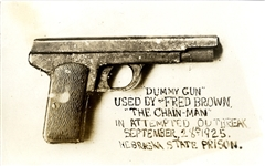 "The ""Dummy Gun"" Used by Fred Brown in his Prison Escape"