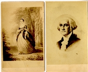 George & Martha Washington CDV's