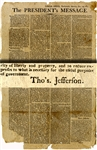 The First State of the Union Address by President Thomas Jefferson