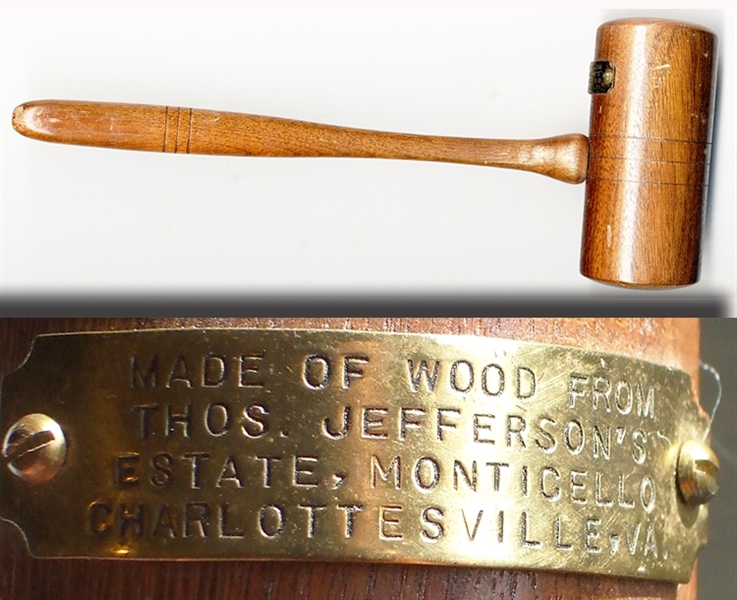 Gavel Made from Wood From Thomas Jefferson's Plantation