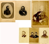 Group Of Six U.S. Grant Images Including Desirable 1868 Campaign CDV