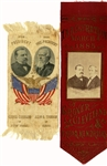 Two Nice Grover Cleveland Jugate Ribbons