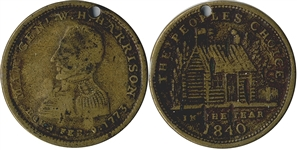 1840 William Henry Harrison Campaign Token.