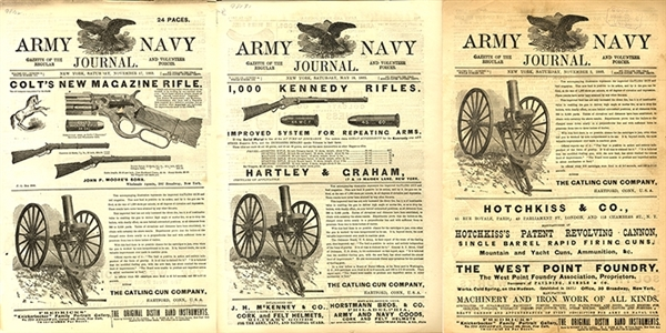 Great Advertising in These Army Naval Journal Newspaper Grouping