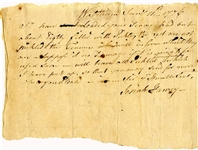 "1776 Document Supplying The Revolutionary Army ""...eighty filled with pickles the rest are not pickled..."""