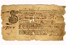 Very Early Slave Document - 1725