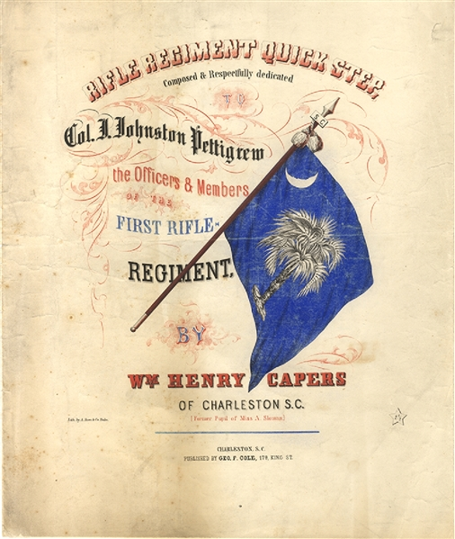 An Exceedingly Scarce Confederate Music Sheet.