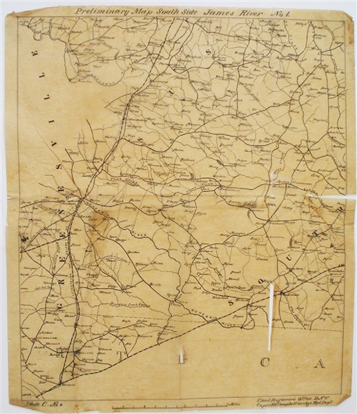 The Following Two Lots Are From Noted Confederate Map Maker, Albert Campbell