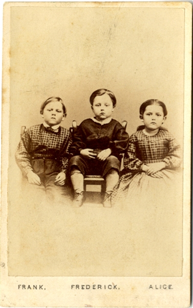 CDV of The Children of the Battlefield,