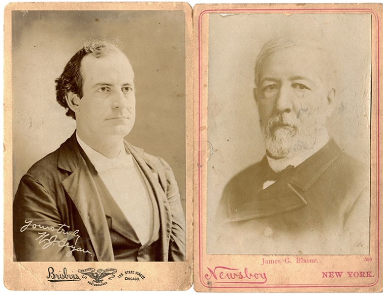 A Pair of Late 19th Century Politicians Cabinet Card Photographs