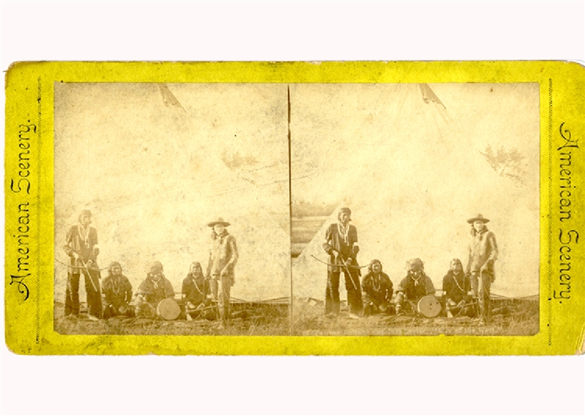 Pawnee Bill Stereoview