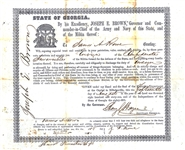 "Rare 1861 Georgia Officer's Commission for the ""Confederate Invincibles"""