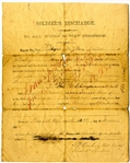 6th Georgia Infantry discharge signed by officer killed at Antietam