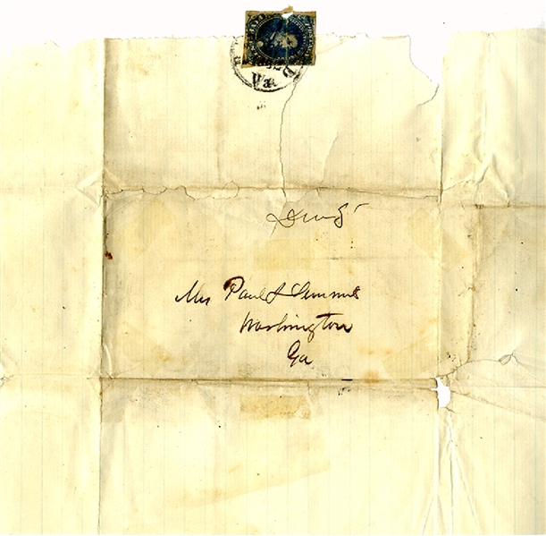Confederate Cover Signed by Gen. Paul Semmes
