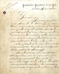 General Benjamin Butler Manuscript Document from Louisiana