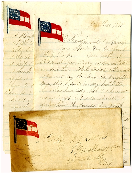 21st Mississippi Letter Pertaining to the Battle of Manassas