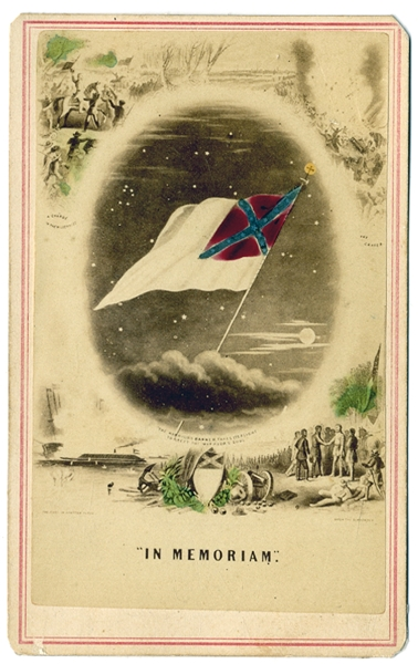Confederate In Memoriam Battle Flag CDV.