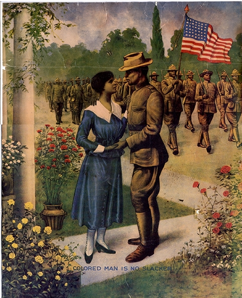 WWI Poster, Recruiting Colored Men
