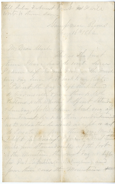 Battle of McDowell & Enlisting the Help Of Secretary of War, George Randolph