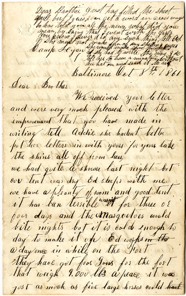 Union Soldier Writes of the Battle of Hoke's Run