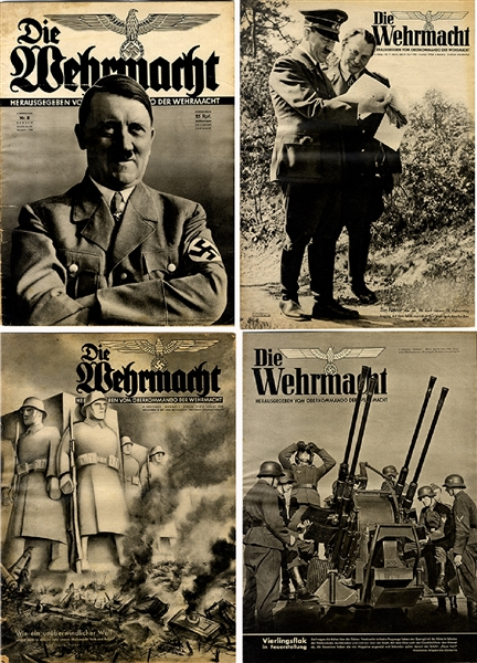 Four WWII German Newspapers
