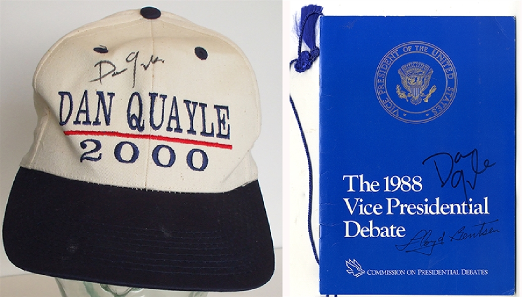 A Pair of Vice President Signed Quayle Items