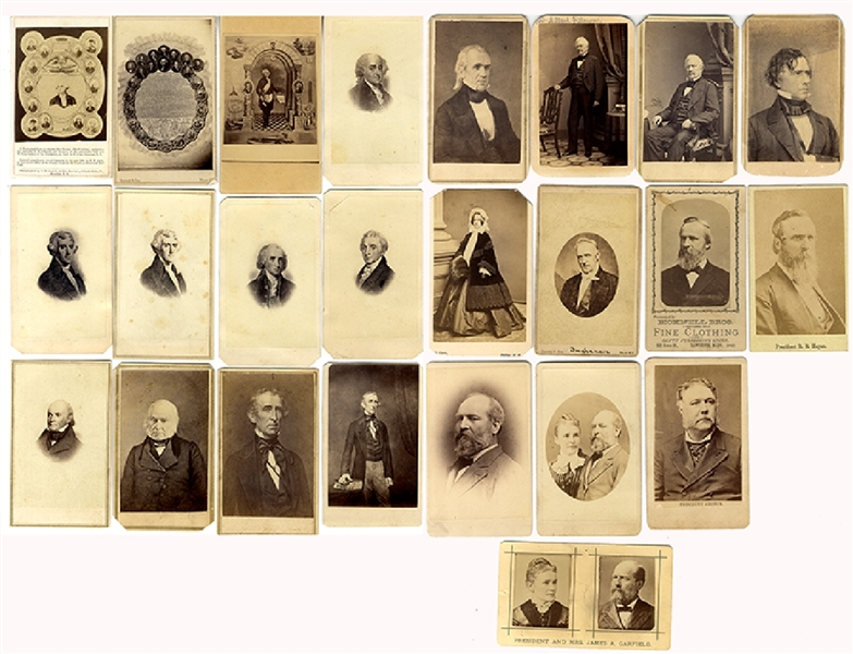 Group of 24 United States presidents CDV's
