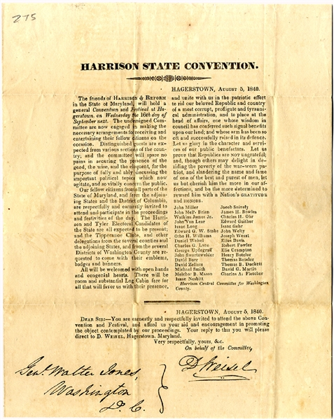 Convention for William H. Harrison for President