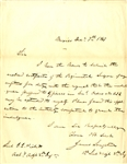 James Longstreet Writes George Pickett Pertaining to His Wound at Chapultepec