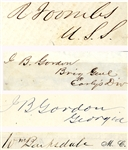 Group of Four Autographs Includes War-date General John B. Gordon