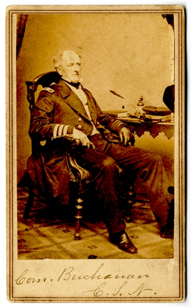 Carte de visite of Commodore Buchanan, CSN